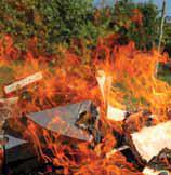 Vietato bruciare rifiuti